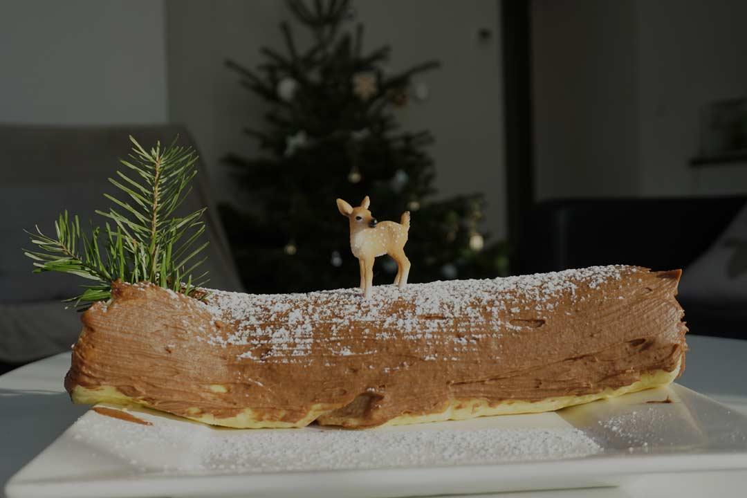 Recette : La bûche de Noël au chocolat et aux marrons