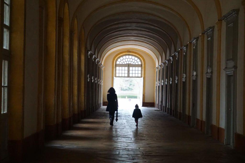 Les couloirs de l'Abbaye de Cluny
