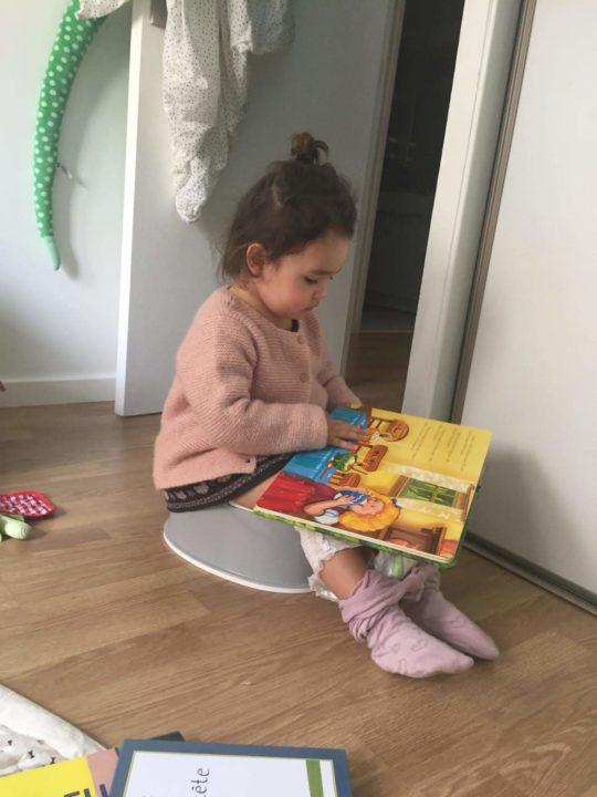 Apprentissage propreté enfant pot